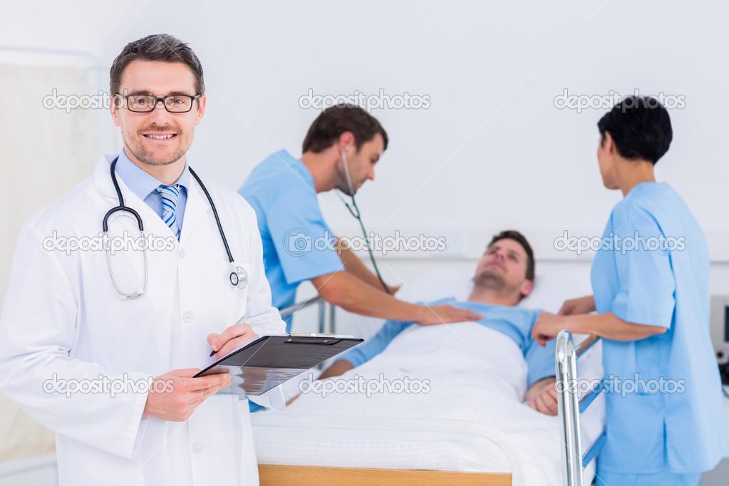 Doc Holding Patient Balls
