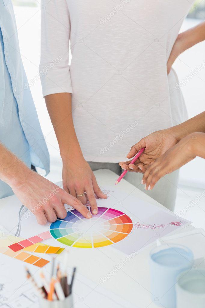 interieur ontwerper weergegeven: Kleurenster — Stockfoto ...