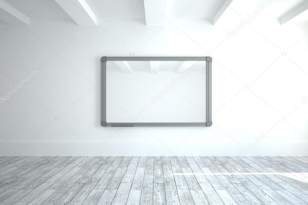Scherm in moderne witte kamer u stockfoto wavebreakmedia