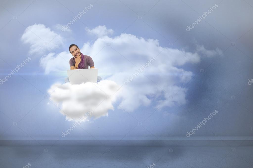 Man Sitting On Cloud Using Laptop Stock Photo C Wavebreakmedia 44901421 Animation releases animation list studios. https depositphotos com 44901421 stock photo man sitting on cloud using html