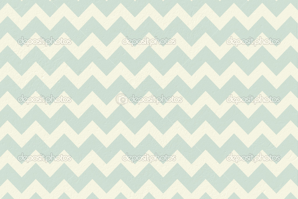 Blue And Cream Patterned Wallpaper Stock Photo