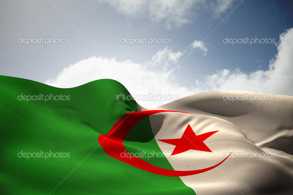 Algerie Drapeau image composite du drapeau d'algérie — photographie wavebreakmedia