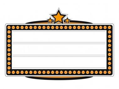 Blank Cinema Billboard Vector Design