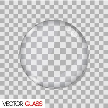 Glass lens vector illustration
