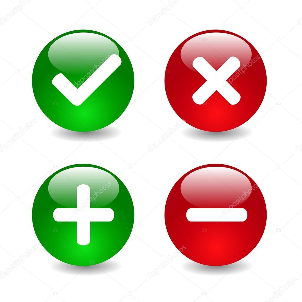 Ilustración de los iconos de marca de verificación — Archivo ...
