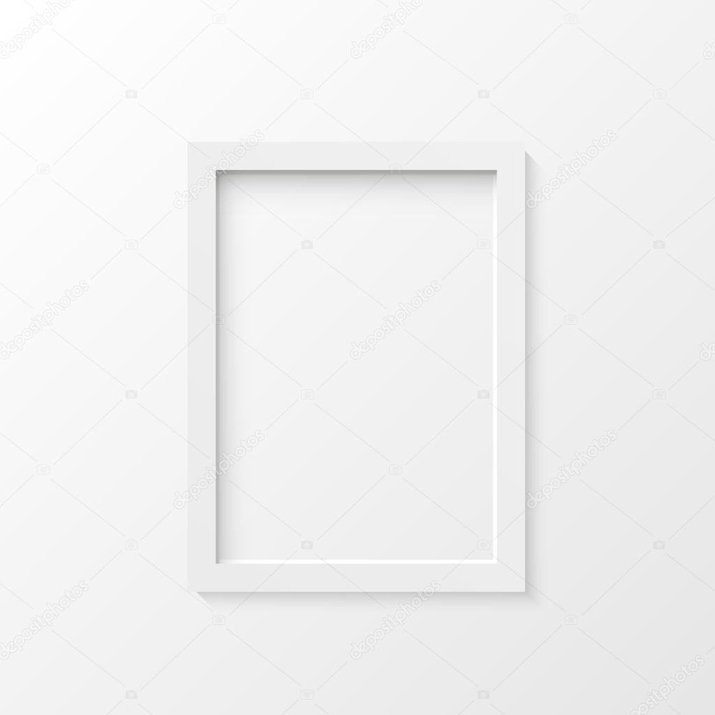Ilustración de vector de marco blanco — Archivo Imágenes Vectoriales ...