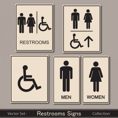 Restroom signs collection