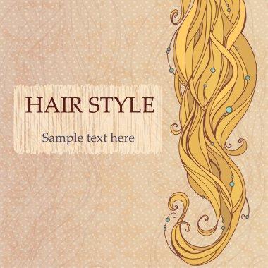 Blonde hair vintage style poster