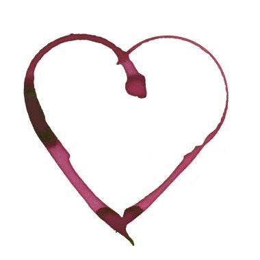 Romantic wine stain