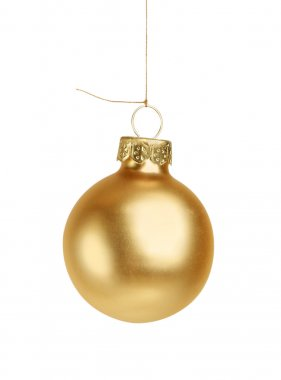 Little golden christmas ball isolated