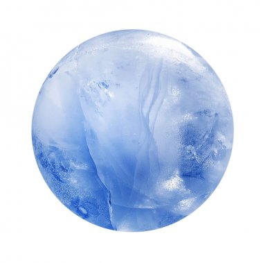 Blue ice sphere isolated