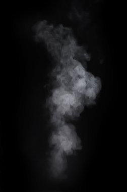 Smoke over the black background