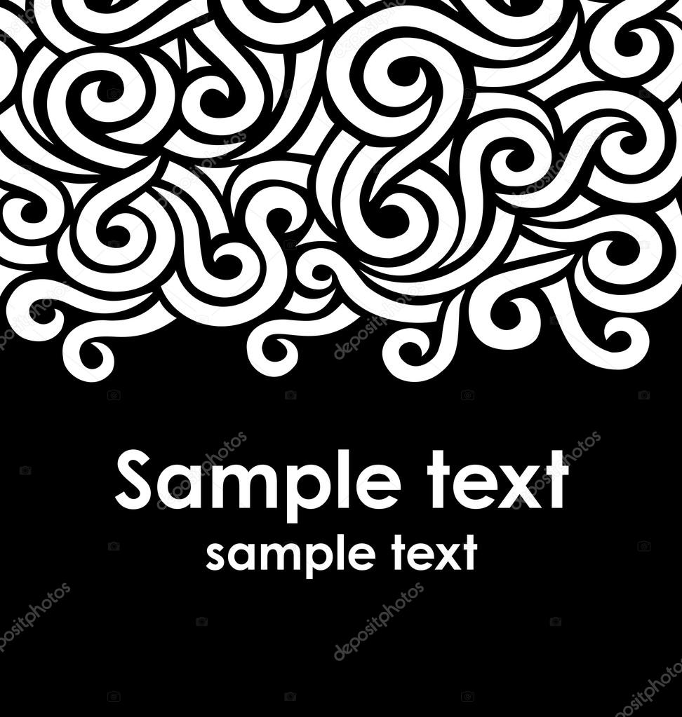 template with swirls stock vector stolenpencil 15382095