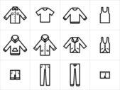 Fotografie Kleidung-Symbole-set 1