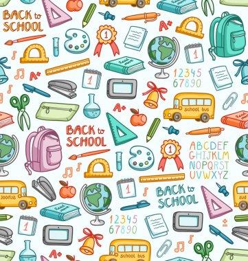 School pattern in color