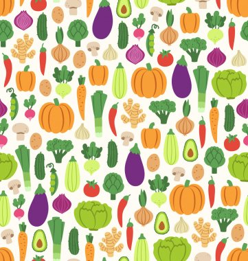 Flat vegetables pattern
