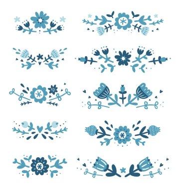 Decorative floral compositions set 2