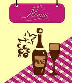 Buňka vínové menu Sign. vektor