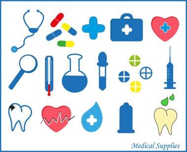 Medical supplies. Vector.