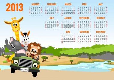 Calendar 2013 with animals