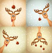 Négy vicces karácsonyi rénszarvas