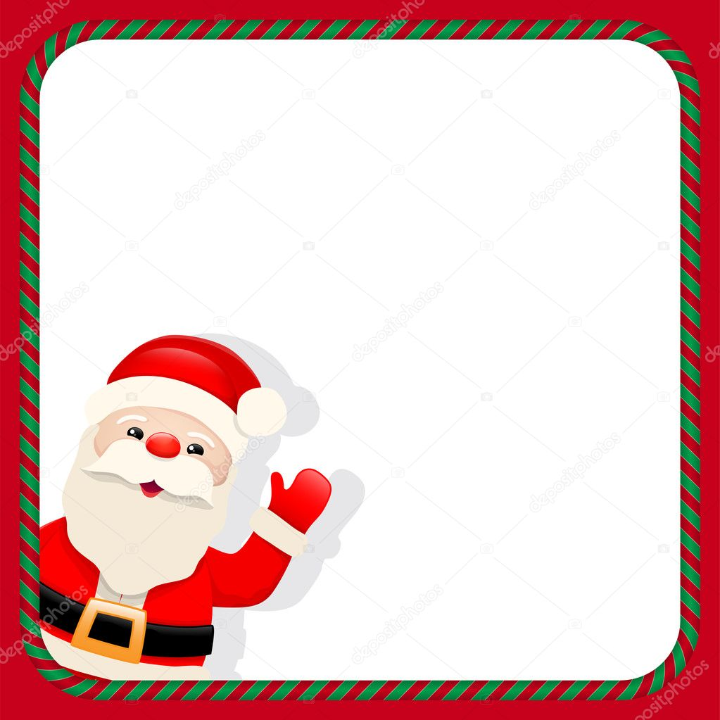 Santa Claus in christmas frame — Stock Vector © anikakodydkova #33276031