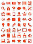 Fotografie červená web ikony pro eshop