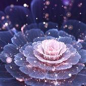 rózsaszín és szürke fraktál virág - digitális mű