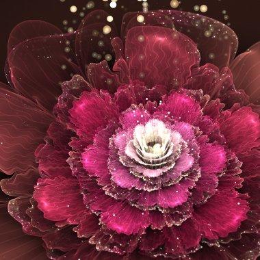 """Картина, постер, плакат, фотообои """"red fractal rose"""", артикул 45984609"""