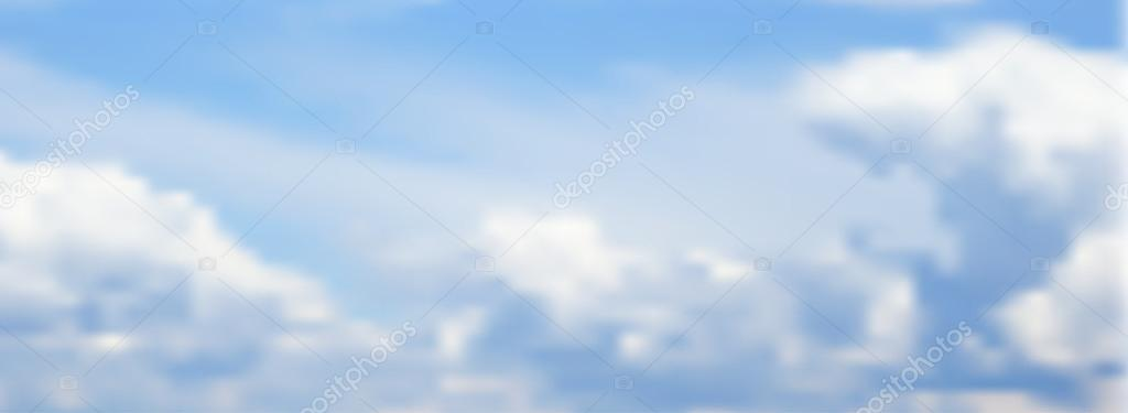 illustration of blurry sky with clouds