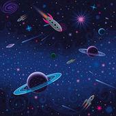 kosmické bezešvé vzor