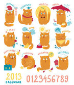 Photo Calendar With Cute Bright Cats