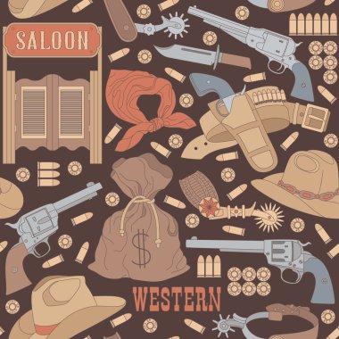 Western seamless pattern