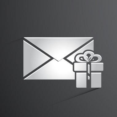 Vector mail icon background