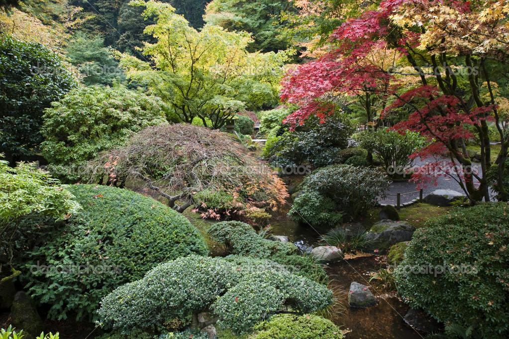 Japanese Garden, Portland, Oregon — Stock Photo © robertcrum #21392091