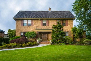 Classic two story brick house