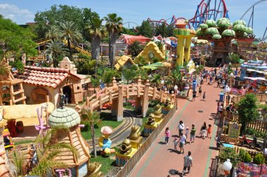 Сhilds attractions in the Port Aventura