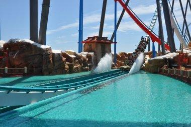 Roller coaster in the Port Aventura