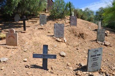 Wild west cemetery