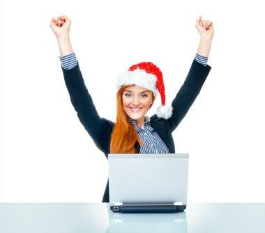 Christmas business woman