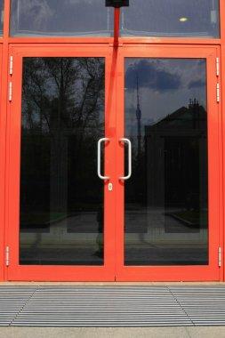 Door glass.
