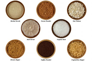Set of Natural Products to Make Facial or Body Scrub