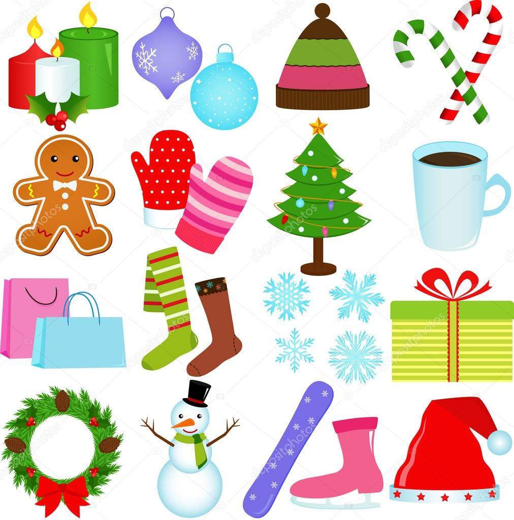 icons winter christmas theme � stock vector 169 sasimoto
