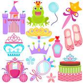 Fotografie Vektorové ikony: Sladká princezna sada