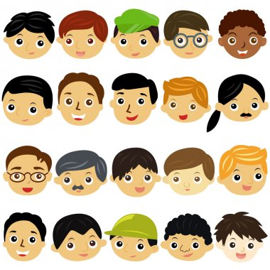 A Theme of cute vector Icons : boys, Man, Kids (Male Set)