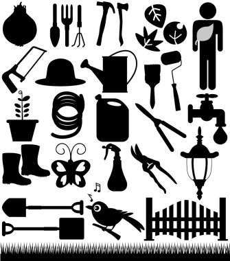 Silhouette - Shovels, Spades, and Garden tools
