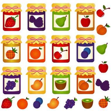 Bottles of home-made Jam (jelly)