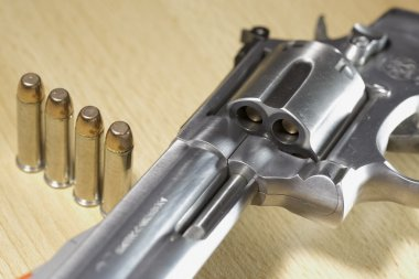 Pistole Revolver Gun stock vector