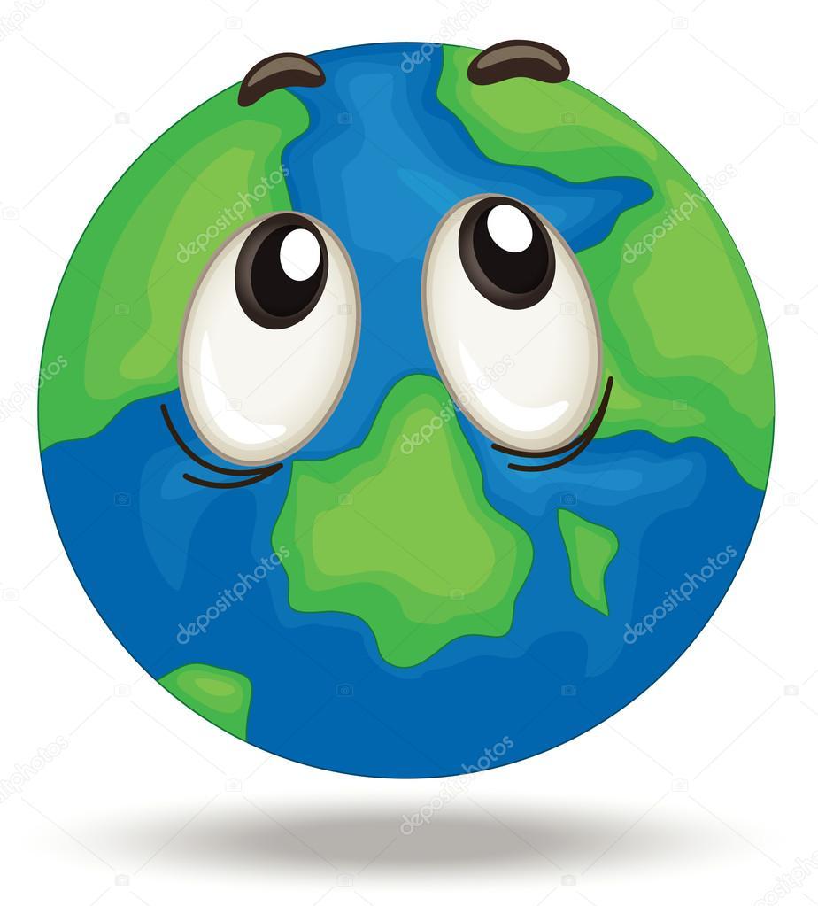 Globus-Gesicht — Stockvektor © interactimages #12603088