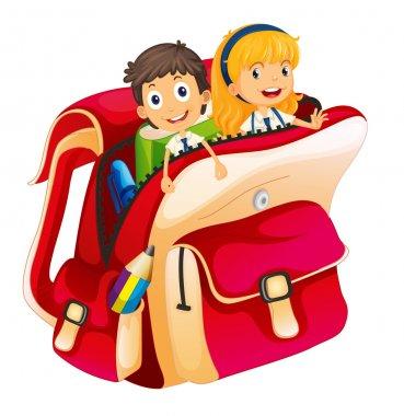 kids in a bag